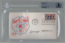 George Halas Chicago Bears Signed Autograph 1968 First Day Cover BAS Beckett