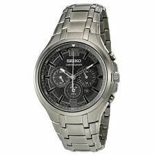 Seiko SSC453 Men's Recraft Grey IP Steel Chrono Solar Watch