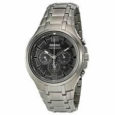 Seiko SSC453 Men's Recraft Grey IP Steel Chrono Solar Watch