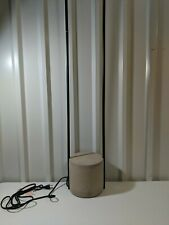 "West Elm Core Industrial Floor Lamp Base White Linen Dark Bronze 60""h x 8""d Open"
