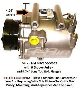 Chevrolet Venture, Silhouette, Montana  OEM Delco AC Compressor with 6 Groove