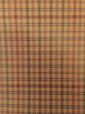 RALPH LAUREN Vinyl Wallpaper DOUBLE ROLL Tweed Plaid LWP00750W Lot 13.1 RARE