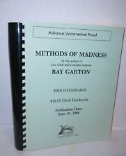 Ray Garton Methods of Madness Advance Uncorrected Proof 1990 Scarce