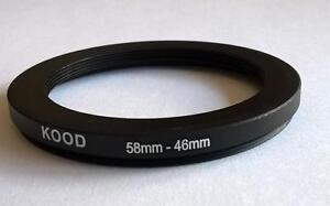 STEP DOWN ADAPTER 58MM-46MM STEPPING RING 58MM TO 46MM 58-46 FILTER ADAPTER