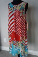 NEW Johnny Was Bohemian Colorful Rayon Geo Flower Tank Dress Tunic S
