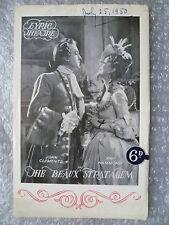 1950 Theatre Programme The Beaux Stratagem- John Clements,Kay Hammond,G Farquhar