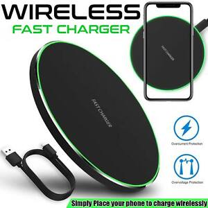 Luxury Qi Fast Wireless Charger For Samsung Galaxy S10 Plus S9 S8 S7 Note 9 8 UK