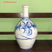Old Korean Blue and White Porcelain Soju Sake Tokkuri Bottle Japanese Market