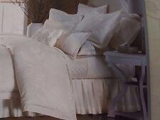 Martha Stewart Trousseau MATIN Queen BEDSKIRT Ivory Floral $135 New Pretty!