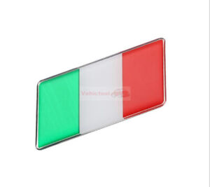 2pcs Italy IT Flag Expoy Resin Trunk Rear Emblem Badge Sticker Decal For Fiat
