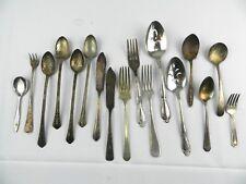 Vintage Lot of 17 Forks Spoons Silverware Silverplate Rogers Racebrook, Winthrop