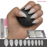 50x POINTED STILETTO False NAILS FULL COVER Fake NATURAL OPAQUE Tips ✅ FREE GLUE