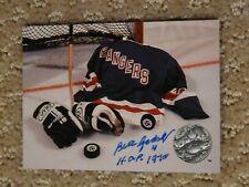 Bill Gadsby New York Rangers Hockey HOF autographed card