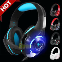 Gaming Headset PS4 Xbox One Headphone PC Earphone Stereo Sound Nose Cancelling