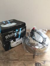 NIB SINGING STAINLESS STEEL  KETTLE - CABIN, CAMPER, TENTING