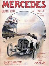 Sport Motor Racing Grand Prix de Dieppe Francia Michelin Mercedes cartel 910PY