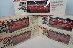 Lionel Aluminum SP Daylight Passenger Car Set 6-9589 6-9590 6-9591 6-9592 6-9593