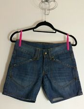 PRIMARK Womens Denim Jeans Shorts Size 8 UK 36 EUR Blue Blogger Faded Distressed