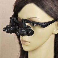 10-25X Jewellery Magnifier Jeweller Magnifying Eye Glass LED Light Lens Loupe EH