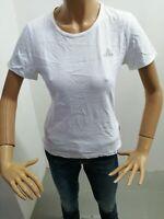 Maglia ADIDAS Donna T-shirt Woman Polo Femme Cotone Bianca Taglia Size 44 8090
