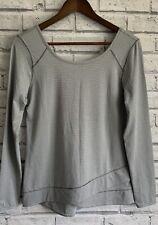 Apana Size S Ladies Grey Striped Stretch Activewear Top