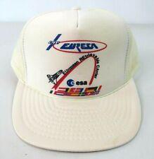 Vtg Nasa Trucker Snapback Cap Hat Esa Euresa European Retrievable Carrier White