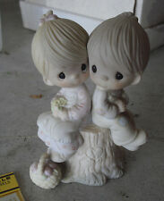 "Precious Moments Jonathan & David Love One Another Figurine 5"" T E-1376"