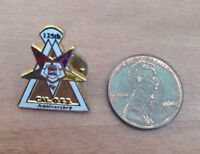 Vintage Eastern Star Free Masons FATAL CAL O.E.S 125th Anniversary Lapel Pin