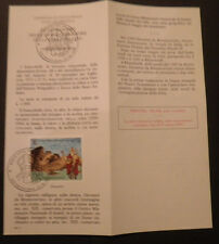 Vatican City Sc#959 FDC on Offical Bulletin; Evangelization of China