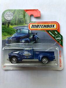 Matchbox '47 Chevy AD 3100 MBX ROAD TRIP blau 2019 NEU