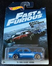 New Hot Wheels Blue '70 Ford Escort Rs1600, Fast & Furious 6, 6 of 8