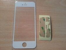 Cristal de Pantalla Digitalizador Blanca Tactil para Iphone 5 5S 5C +Adhesivo