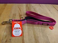 (New) KONG Comfort Traffic Dog Leash Padded Handle Fuschia 4 Ft