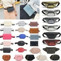 15Styles Women's New Chain Waist Belt Bag Leather Fanny Pack Shoulder Chest Bag