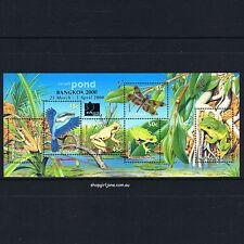 1999 - Australia - Small Pond - frogs - mini-sheet - Bangkok 2000 overprint -MNH