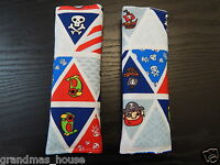 Child Seat Belt Strap Covers Car Highchair Pram Stroller - Pirate Bunting Flags
