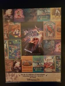 Disneyland Paris 25th Anniversary Attraction Poster Art Rare Genuine Xmas Gift