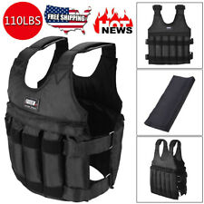 110lb/50kg Loading Adjustable Weighted Vest Fitness Training Exercise Waistcoat