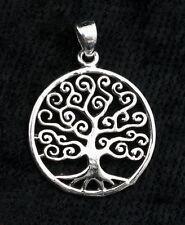 Pendentif Arbre de Vie-celte-tree of Life-en Argent  925-1.6g-22 mm-W22 10035