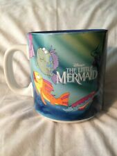 Disney Vtg The Little Mermaid Mug Colorful Collector's Cup Ariel and Flounder