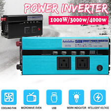 2000 watt Power Inverter DC12V to AC110V Portable Car Charger Converter Battery