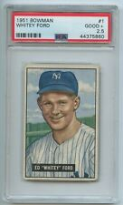 1951 Bowman #1 Whitey Ford Rookie Card PSA 2.5 GOOD+ Hall of Fame N.Y. Yankees