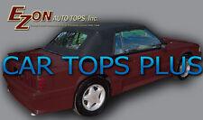 1983-1990 Ford Mustang Convertible Top & Plastic Window, Black Vinyl