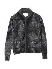 New Boy Rag & Bone Black Wool Cardigan Sweater Shawl Collar Size S