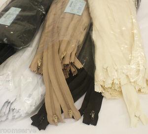 No3 Medium Weight Closed Zips - 100 pack. Various sizes