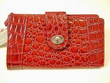 Womens Mundi Red Vinyl Clutch Wallet
