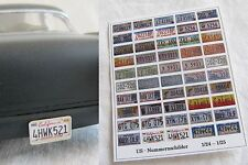 US Nummernschilder Kennzeichen Nummerschild 1/24 1/25 Bastler