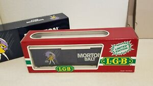 LGB 4090MS Morton Salt Steel/Wood Box Car Cimarron limited edition 4090 G Scale