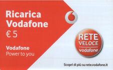 4321 SCHEDA TELEFONICA RICARICA USATA VODAFONE 5 31 12 2035