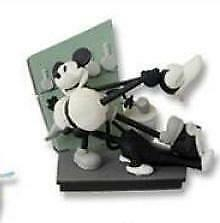 "Tomy Yujin Disney Cinemagic MICKEY MOUSE B&W Figure SET Dioramas 3"" sealed"